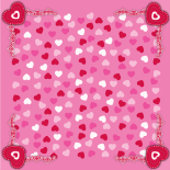 DARLING 24X24 IN HOT PINK/RED