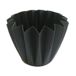 CUPCAKE CONTAINER 11 CM BLACK