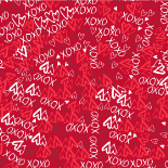 XOXO 24X24 IN RED