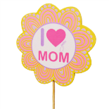 I LOVE MOM (WITH PICTURE FRAME) ON 20 IN STICK