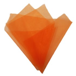 ORGANZA 20X28IN WITH 3IN HOLE NO EDGE ORANGE