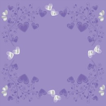CRYSTAL HEARTS 24X24 IN NO HOLE LILAC