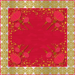 BEIJING 24X24 IN RED