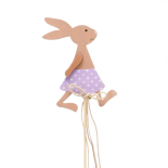 GIRL RABBIT 8.5 CM PICK PURPLE IN 20 IN STICK