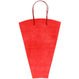 FLOWERBAG NONWOVEN 19X14X5 IN RED