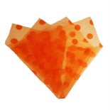 ORGANZA DOTS 20X28 IN WITH 3IN HOLE ORANGE
