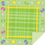 EASTER PICNIC 24X24 IN GREEN