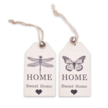 LABEL HOME SWEET HOME 8X4,5CM ASSORTED