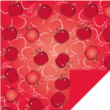 APPLELICIOUS RED 24X24 IN