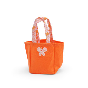 Carrybag Butterfly Felt 12.5x11.5x14.5cm orange