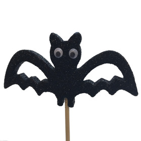 Halloween Bat 10x7cm on 50cm stick