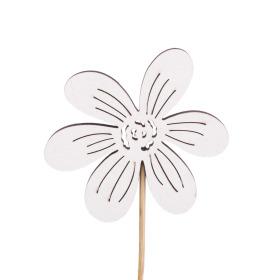 Flower Memories 7cm on 10cm stick white