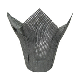 Woven Pot Cover 6 in charcoal
