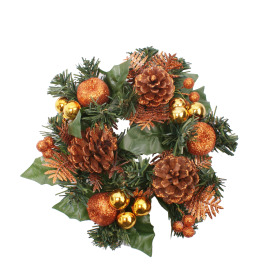 Wreath Luxury 25cm copper