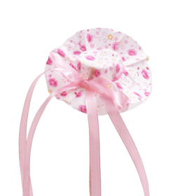 Hat Floral Happiness 8cm on 50cm stick pink