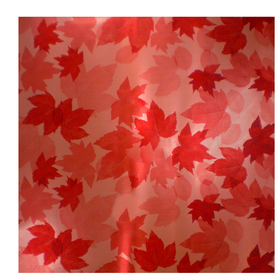 Fall Leaves 24x24in red
