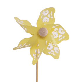 Windmill Jazz 9cm on 50cm stick yellow