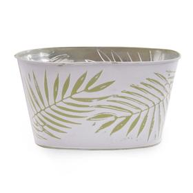 Zinc bowl Oval Urban Jungle 11x6x5.5in green