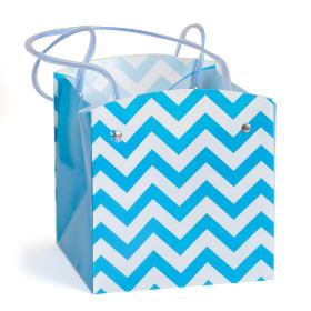 Carrybag waterproof folded Chevron 15x15x15cm blue