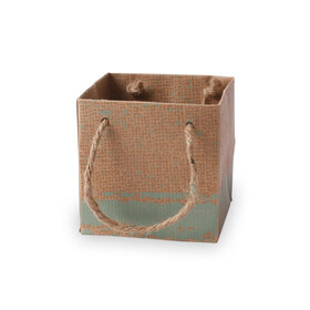 Carton bag Kirsten 10x10x10cm green