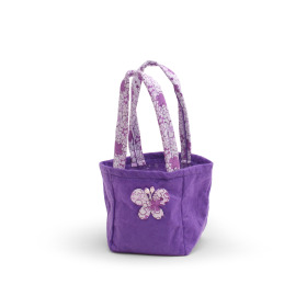 Carrybag Vlinder Vilt 9,5x9x11cm lila