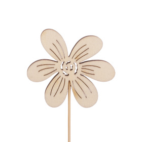 Flower Memories 7cm on 50cm stick natural