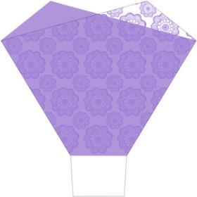 Tango Lady 21.7x22x5.8 in lilac