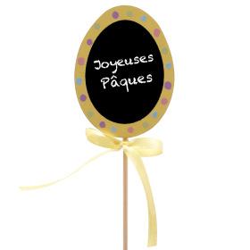 Ei Joyeuses Pâques 6cm op 50cm stok