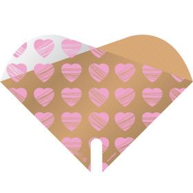 Sleeve Doublé Heartbeat 35x35cm pink