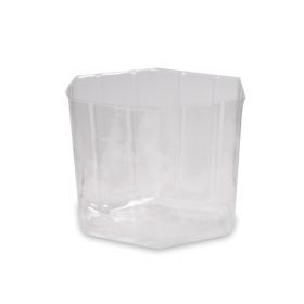 Inner cup hexagonal 14.8x13.3x13cm transparent