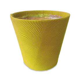 "Pot Riccio 4"" yellow"