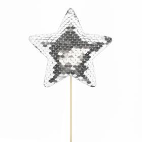 Star Cheerzz 10cm on 10cm stick silver