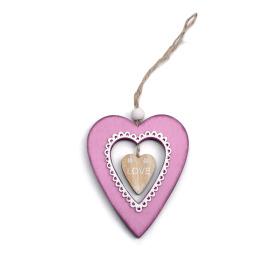 Deco Hart Valentina 7,5x9cm roze