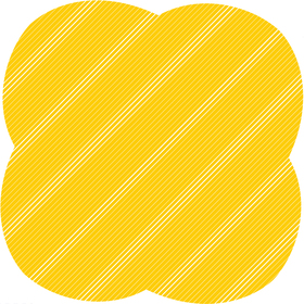 Sheet Stripes&Hypes 80x80cm yellow