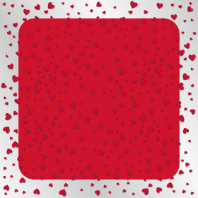 Sheet Flying Hearts 80x80cm red
