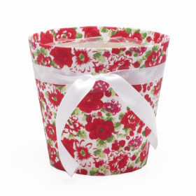Potcover Flowers ES12 red