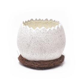 Ceramic Pot Pastel Egg Ø15.5cm cream
