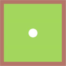 Blushy 24x24in green H3