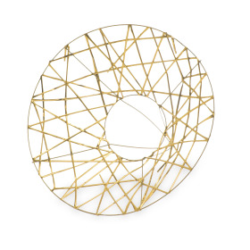 Bouquetholder X-mas Wire Ø25cm gold