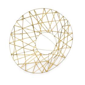 Boekethouder X-mas Wire Ø25cm goud