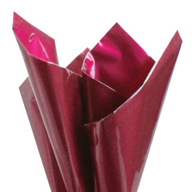 Sheet Metallic Look 80x80cm cerise/raspberry