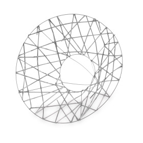 Boekethouder X-mas Wire Ø20cm silver