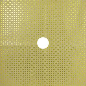 Glitter & Hearts 24x24in gold H3