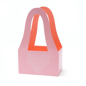 Carrybag Double Love 20/11.5x32.5cm pink