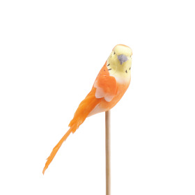 Bird Coco 14.5cm on 50cm stick orange