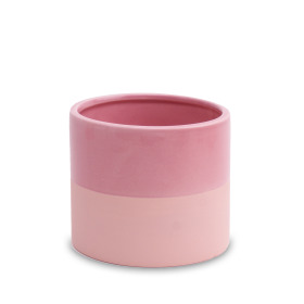 Ceramic Pot Soft Touch 5in Rustic Pink