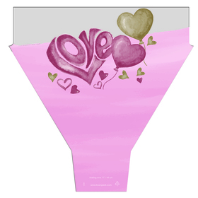 Floating Love 20x17x5in pink