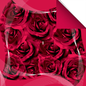 Sheet Swirl rose 60x60cm red
