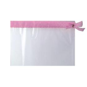 Sleeve Foil Roset De Luxe 40x50cm transp./pink