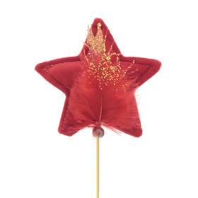 Star Noeleen 11.5cm on 50cm stick red